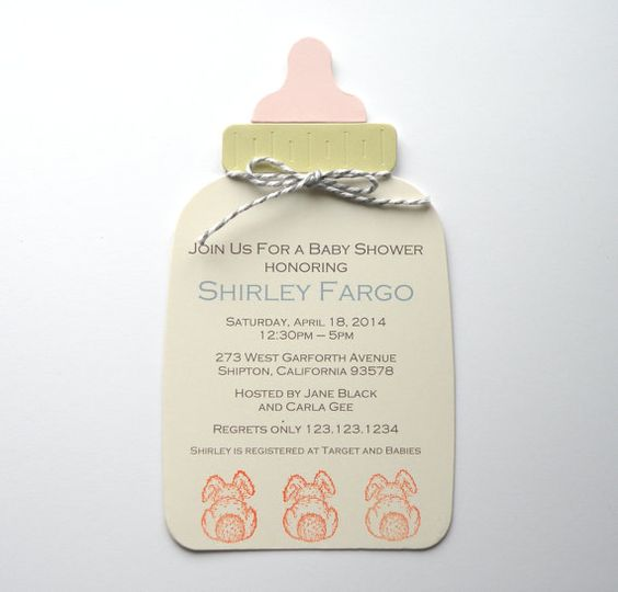 Baby Bottle Shower Invitation with Custom by APaperParadise, $2.50
