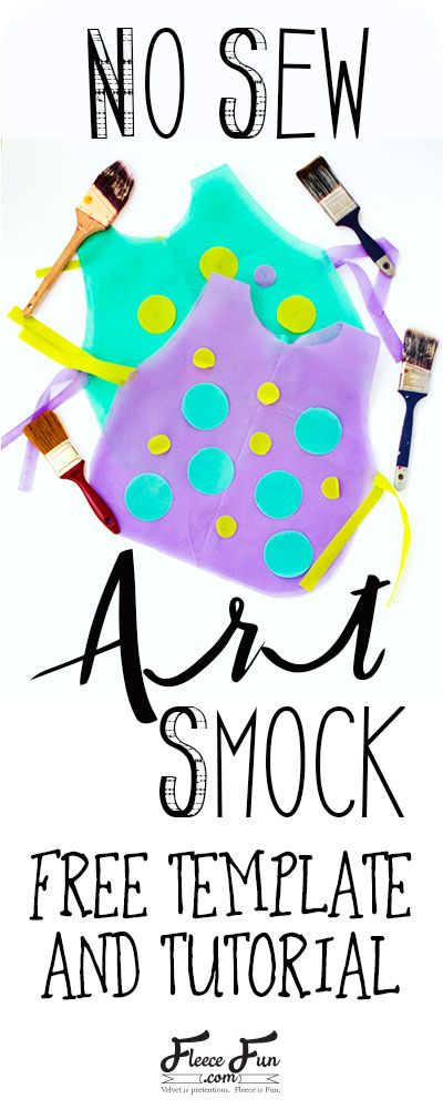 I love this easy no sew art smock tutorial. The free template makes it easy to DIY . This art smock would be great for parties. I love the fun colors she used.: