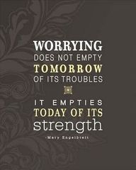 stop worrying now.