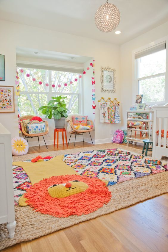 Tapis animal chambre de bébé