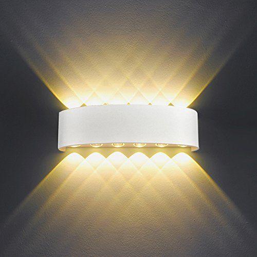 Offerta Di Oggi Lampada Da Parete Interno Esterno 12w Led Applique Da Parete Moderno In Alluminio Bianco Up Dow Wall Lamp Ceiling Light Fixtures Wall Lights