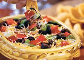 Fiesta Dip from @La Preferida; Repin and leave a comment to win a prize from #RecipeLion