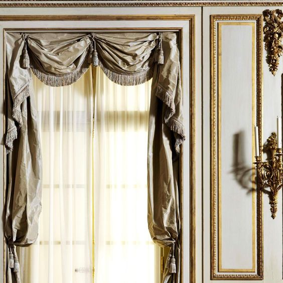 Detail room from boiserie from the palais paar matty for 18th century window treatments
