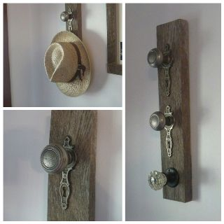 Hat hanger old barns and hangers on pinterest for Barn board bathroom ideas
