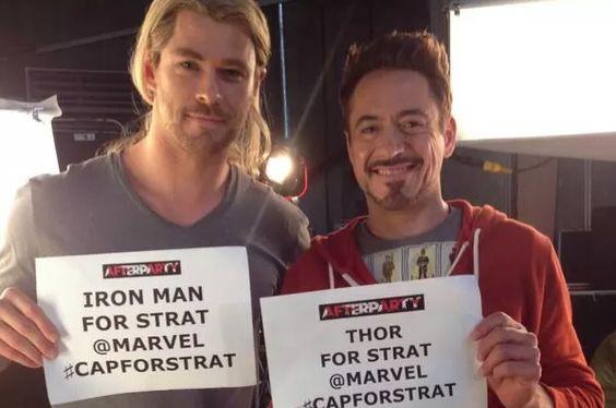 Estrelas do filme 'Os Vingadores' se unem para ajudar fã com câncer http://angorussia.com/?p=18470