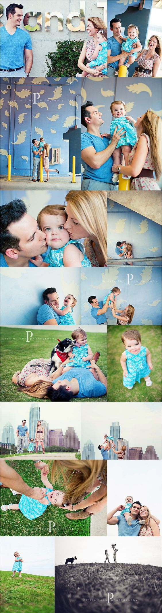 lots of great posing for families with young one: