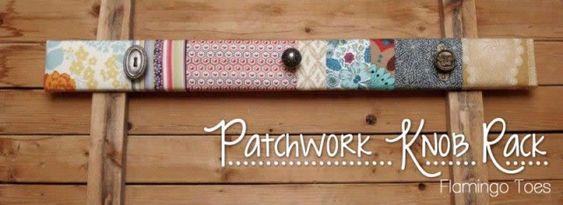 Tutorial de un perchero Patchwork muy original y sencillo de hacer.