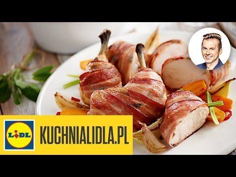 Kurczak Pieczony Z Bekonem I Puree Maslanym Karol Okrasa Przepisy Kuchni Lidla Youtube Food Chicken Meat
