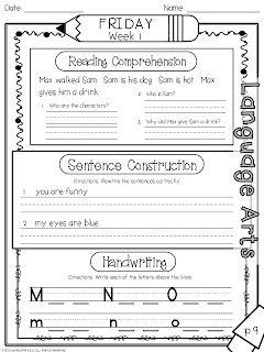 1st Grade Fantabulous: Randomness and a Morning Work Packet