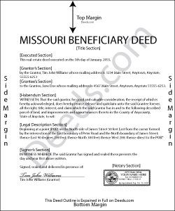 Missouri Beneficiary Deed Form Quitclaim Deed Florida Estate