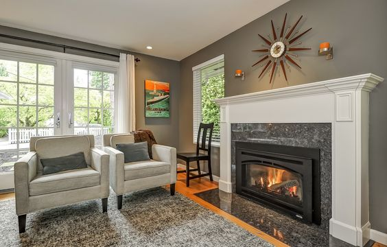 warm family rooms with fireplace | ... the pseudo private porch, and the family room with the warm fireplace