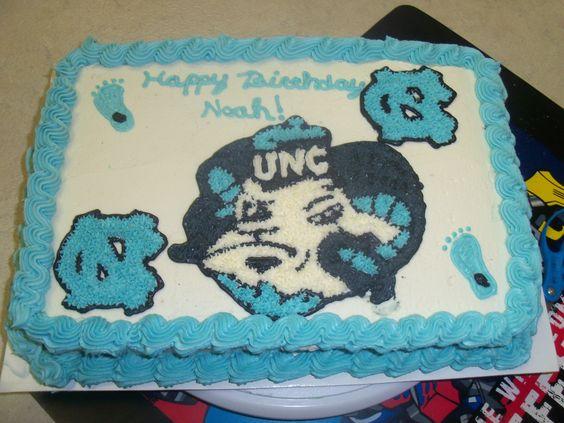 Hand drawn UNC birthday cake.