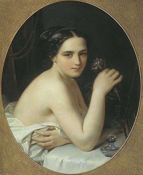 @Carlingas59 Buen vierne Carlos. Un abrazo Joven con una flor de Alexei Tyranov  1801-1859
