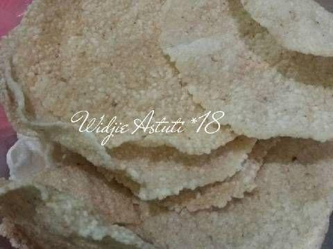 Resep Kerupuk Nasi Gendar Tanpa Bleng Borax Oleh Widjie Astuti Recipe Recipe Steps Borax Bikins