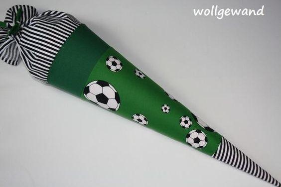 Schultüten - °FUSSBALL° Schultüte-Name möglich (Kissen) - ein Designerstück von Wollgewand bei DaWanda