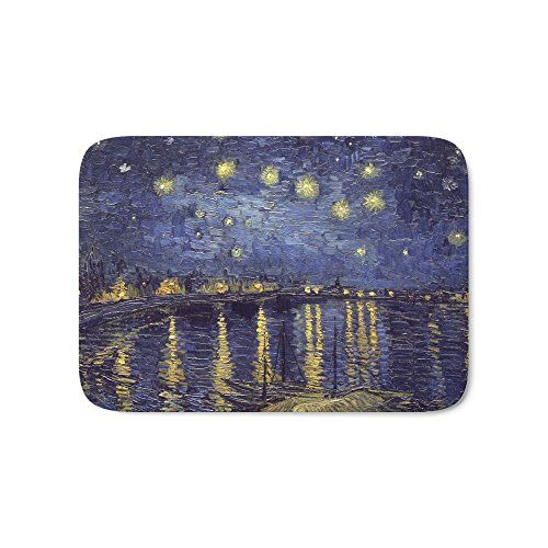 Society6 Vincent Van Gogh Starry Night Over The Rhone Bath Mat 17 Starry Night Van Gogh Vincent Van Gogh Van Gogh