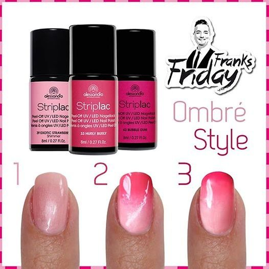 Frank's Friday: Ombre Style Striplac Nailart - beautyqueen