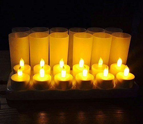 Orocko Led Rechargeable Candles 12 Pack Rechargeable Candle Tealights Rechargeable Tea Lights Flamless Battery Operated No Fire Risk Safe For Home Res In 2020 Rechargeable Tea Lights Rechargeable Candles Candles