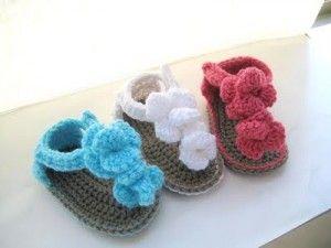 Cute crochet sandals tutorial