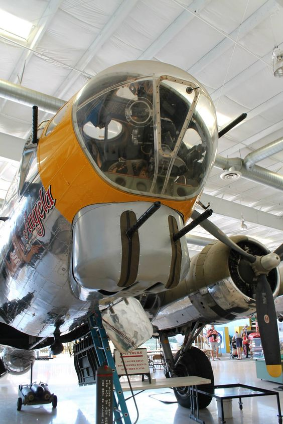 B-17G Flying Fortress, USAAF, WW2. Palm Springs Air Museum. Photo by Patrick Mack.