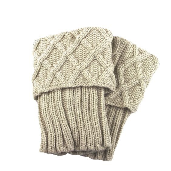 Oat Cable Knit Boot Cuff