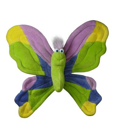Kiwi & Orchid Wall-Hanging Butterfly Plush Toy #zulily #zulilyfinds