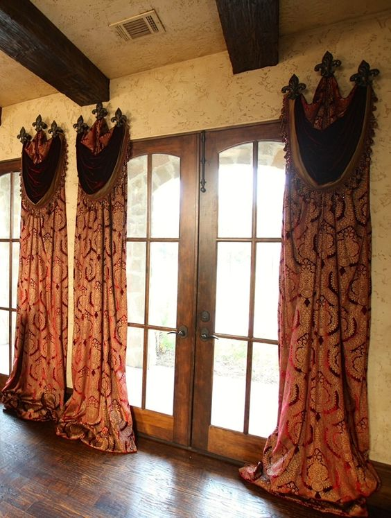 Window treatments curtains pinterest old world for Old world window treatments