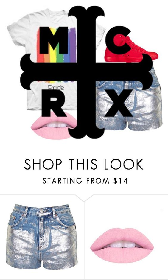 """""""No words"""" by frerardforever ❤ liked on Polyvore featuring Topshop and Converse"""