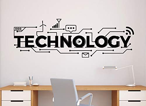 Technology Wall Decal Science Vinyl Sticker Home Office Decor Classroom Interior 63n Marcus Ross In 2020 Classroom Interior Office Wall Design Vinyl Wall Decals