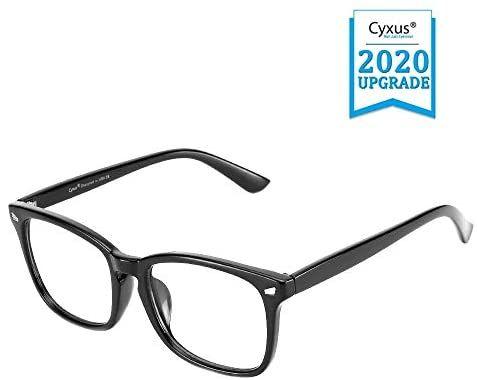 Amazon Com Cyxus Blue Light Blocking Glasses For Computer Use Women Men Uv Filter Eyewear Square Eyeglasses Frame Anti Ey Glasses Gaming Glasses Eyeglasses
