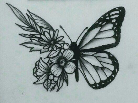 Tt Half Flower Half Butterfly Butterfly With Flowers Tattoo Butterfly Tattoo Butterfly Tattoo Designs