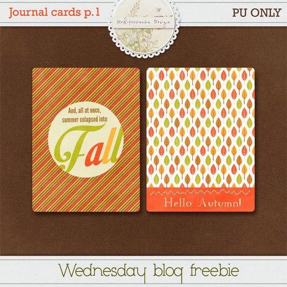 Mediterranka design: Freebie journal cards