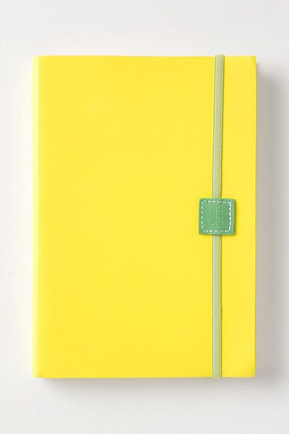 Hot Hues Journal #anthropologie - DIY - make a fabric journal cover for a composition book - sew elastic into place to keep it closed!