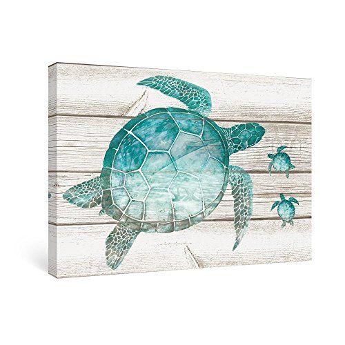 Sumgar Wall Art For Bathroom Green Sea Turtle Wall Decor Vintage Paintings On Canvas Framed Prints Turtle Wall Decor Turtle Decor Sea Turtle Decor