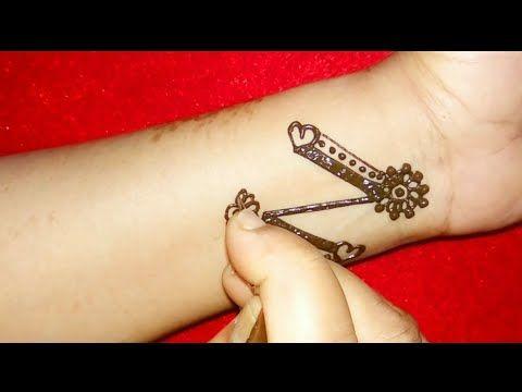 DIY \u0027z\u0027 Letter Henna Tattoo Mehndi Designs for hands