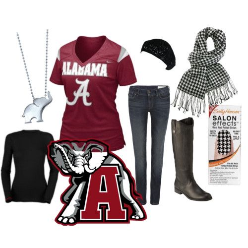 game day! roll tide! just need the scarf and necklace to complete the look!