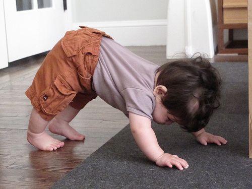 It's okay to take baby steps. You have to start somewhere...  Adho Mukha Svanasana - downward facing dog
