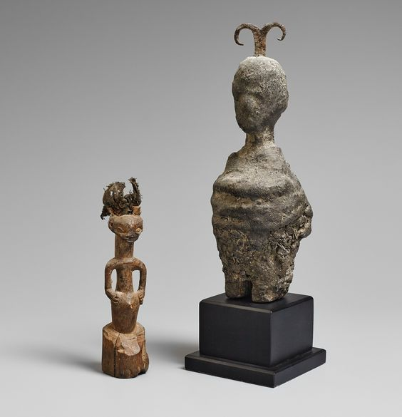 Benin and Democratic Republic of the CongoA FON SMALL FETISH FIGURE AND A BENA LULUA SMALL POWER FIGURE, Auction 1054 African and Oceanic Art, Lot 91