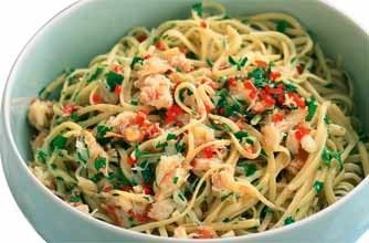 Crab linguine: Crab Linguine, Pasta Recipes, Seafood Pasta, Food Food, Recipes Wellbeing, Healthy Recipes, Crabmeat Linguine, Chilli Recipes, Food Drinks