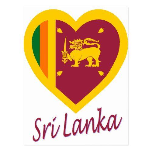 Sri Lanka Flag Heart Postcard Zazzle Com Sri Lanka Flag Postcard Flag