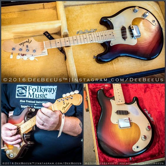"""deebeeus: """" Holy Mandocaster Batman! Dig this fantastic 1958 #Fender #Mandocaster I just saw at @folkwaymusic in #Waterloo Canada. It's so clean…with a nicely-grained #ash body, original 3 tone #sunburst finish, and 24 #fret neck! Other than some..."""