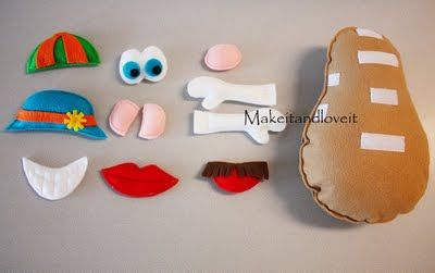 Felt and velcro Potato head, perfect for when the kids need to be quite, ie church!!
