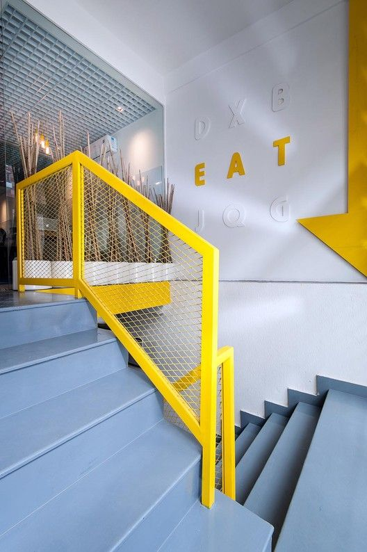 Delhi india railings and india on pinterest for Office design yellow