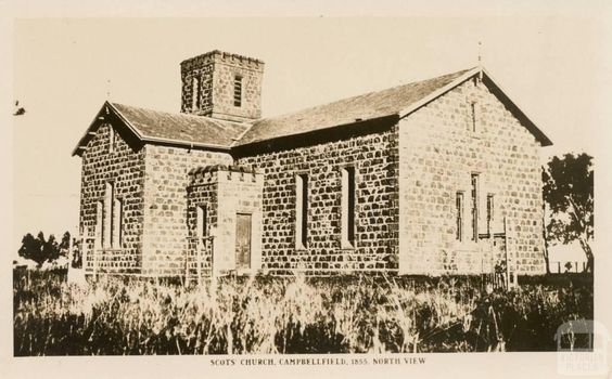 Scot's Church, Campbellfield, 1855, North View