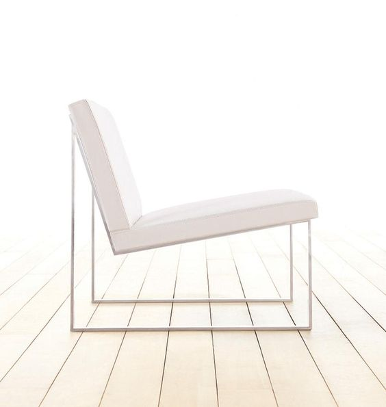 KE-ZU Furniture by Fabien Baron. Perfect chair for bedroom. love the white. metal legs.