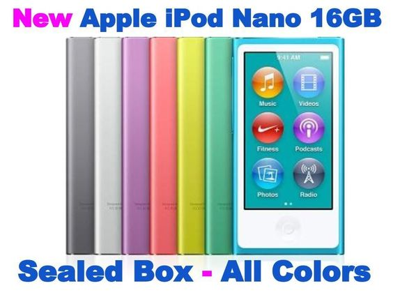 New Apple iPod Nano 7th Generation - 16GB Touch (Latest Model) #Apple