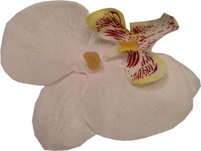 White Orchid Flower hair Clip by RebelBowz on Etsy