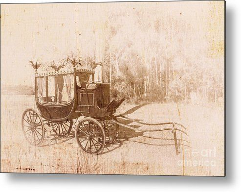 Vintage Old Metal Print featuring the photo Olden Day Funeral Cart by Jorgo Photography - Wall Art Gallery