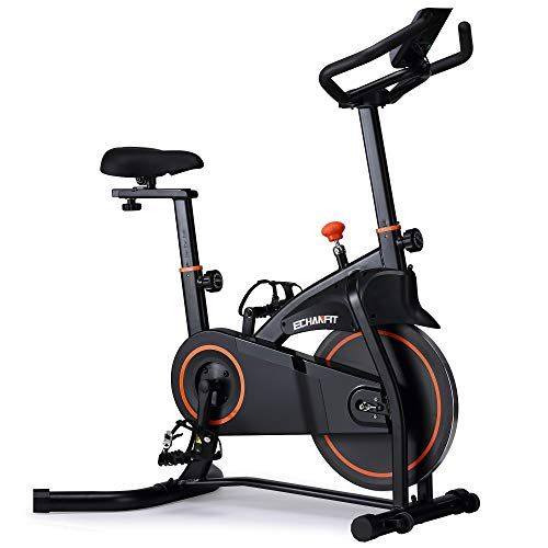 Echanfit Indoor Exercise Bike Stationary Cycling With Quiet Smooth Belt Magnetic Resistance For Cardio Training Fitness At Home And Studio In 2020 Biking Workout