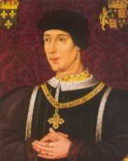 King Henry VI (1422 - 1461) son of Henry V. He assumed royal power 1442 and sided with the party opposed to the continuation of the Hundred Years' War with France. After his marriage 1445, he was dominated by his wife, Margaret of Anjou. He was deposed 1461 in the Wars of the Roses; was captured 1465, temporarily restored 1470, but again imprisoned 1471 and then murdered.    Henry was eight months old when he succeeded to the English throne.